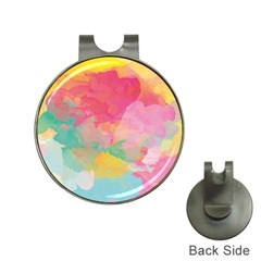 Watercolour Gradient Hat Clips With Golf Markers