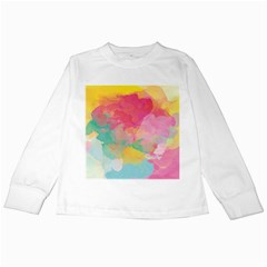 Watercolour Gradient Kids Long Sleeve T Shirts