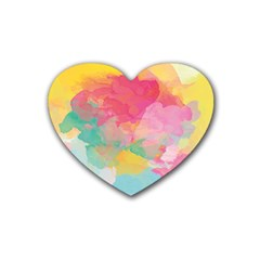Watercolour Gradient Heart Coaster (4 Pack)