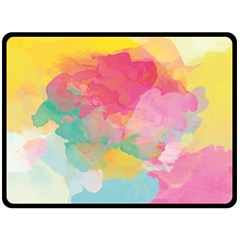 Watercolour Gradient Double Sided Fleece Blanket (large)