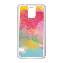 Watercolour Gradient Samsung Galaxy S5 Case (white)