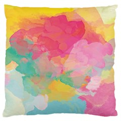 Watercolour Gradient Large Flano Cushion Case (one Side)