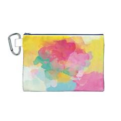 Watercolour Gradient Canvas Cosmetic Bag (m)