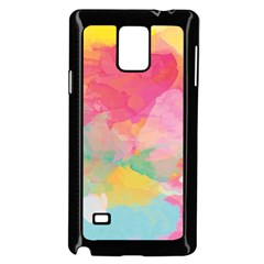 Watercolour Gradient Samsung Galaxy Note 4 Case (black)