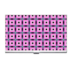 Pattern Pink Squares Square Texture Business Card Holders