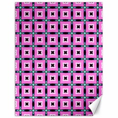 Pattern Pink Squares Square Texture Canvas 18  X 24