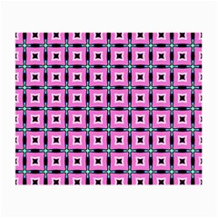 Pattern Pink Squares Square Texture Small Glasses Cloth (2 Side)