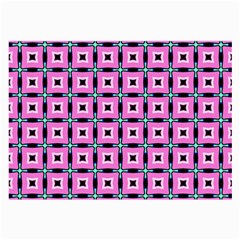 Pattern Pink Squares Square Texture Large Glasses Cloth (2 Side)