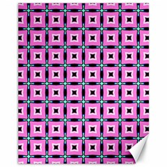 Pattern Pink Squares Square Texture Canvas 11  X 14