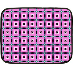 Pattern Pink Squares Square Texture Fleece Blanket (mini)