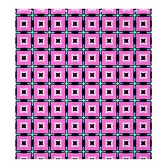 Pattern Pink Squares Square Texture Shower Curtain 66  X 72  (large)