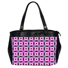 Pattern Pink Squares Square Texture Office Handbags (2 Sides)