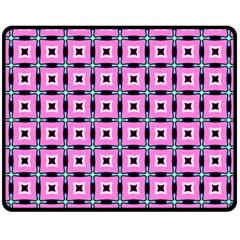 Pattern Pink Squares Square Texture Fleece Blanket (medium)