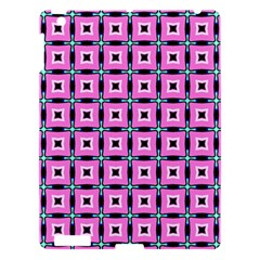 Pattern Pink Squares Square Texture Apple Ipad 3/4 Hardshell Case