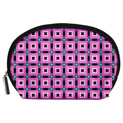 Pattern Pink Squares Square Texture Accessory Pouches (large)