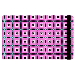 Pattern Pink Squares Square Texture Apple Ipad Pro 9 7   Flip Case
