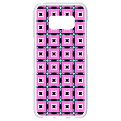 Pattern Pink Squares Square Texture Samsung Galaxy S8 White Seamless Case