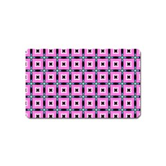 Pattern Pink Squares Square Texture Magnet (name Card)