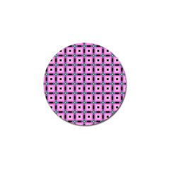 Pattern Pink Squares Square Texture Golf Ball Marker (4 Pack)