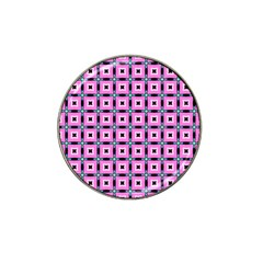 Pattern Pink Squares Square Texture Hat Clip Ball Marker
