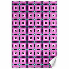 Pattern Pink Squares Square Texture Canvas 12  X 18