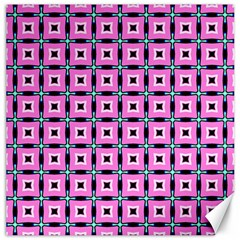 Pattern Pink Squares Square Texture Canvas 16  X 16