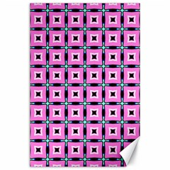 Pattern Pink Squares Square Texture Canvas 24  X 36