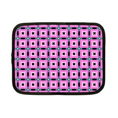 Pattern Pink Squares Square Texture Netbook Case (small)