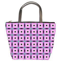 Pattern Pink Squares Square Texture Bucket Bags
