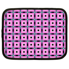 Pattern Pink Squares Square Texture Netbook Case (xxl)