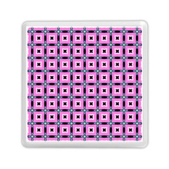 Pattern Pink Squares Square Texture Memory Card Reader (square)