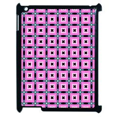 Pattern Pink Squares Square Texture Apple Ipad 2 Case (black)
