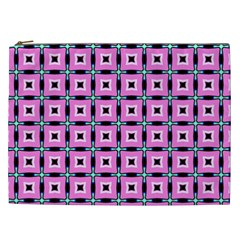 Pattern Pink Squares Square Texture Cosmetic Bag (xxl)