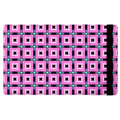 Pattern Pink Squares Square Texture Apple Ipad 2 Flip Case