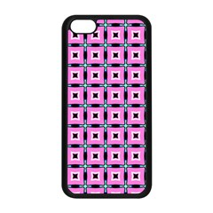 Pattern Pink Squares Square Texture Apple Iphone 5c Seamless Case (black)