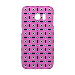 Pattern Pink Squares Square Texture Galaxy S6 Edge