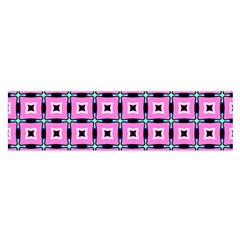 Pattern Pink Squares Square Texture Satin Scarf (oblong)
