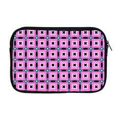 Pattern Pink Squares Square Texture Apple Macbook Pro 17  Zipper Case