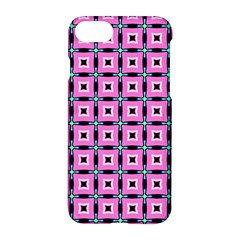 Pattern Pink Squares Square Texture Apple Iphone 8 Hardshell Case