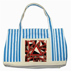 Road Sign Auto Gradient Down Below Striped Blue Tote Bag