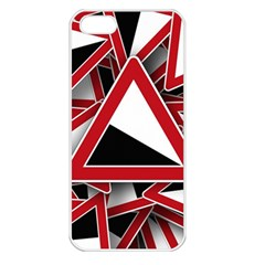 Road Sign Auto Gradient Down Below Apple Iphone 5 Seamless Case (white)