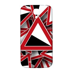 Road Sign Auto Gradient Down Below Samsung Galaxy S4 I9500/i9505  Hardshell Back Case