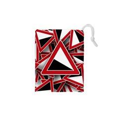 Road Sign Auto Gradient Down Below Drawstring Pouches (xs)