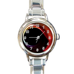 Grid Bent Vibration Ease Bend Round Italian Charm Watch