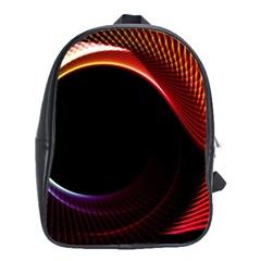 Grid Bent Vibration Ease Bend School Bag (large)
