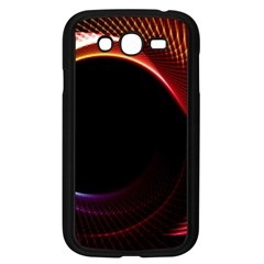 Grid Bent Vibration Ease Bend Samsung Galaxy Grand Duos I9082 Case (black)