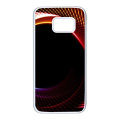 Grid Bent Vibration Ease Bend Samsung Galaxy S7 White Seamless Case