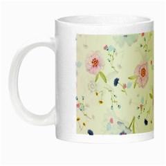 Floral Pattern Background Night Luminous Mugs