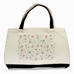 Floral Pattern Background Basic Tote Bag