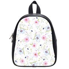 Floral Pattern Background School Bag (small)